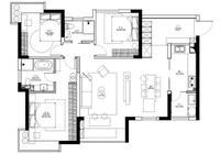 三代同堂住130㎡,陽臺做茶室,電視背景牆做隔斷,全屋無阻礙