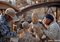 中國第一泥塑牛人,泥塑《清明上河圖》實景