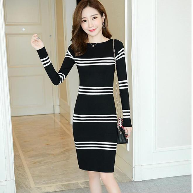 如果你喜歡穿高跟靴,建議搭配這種冬裙,保管老公願意陪你逛街