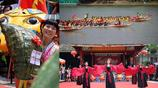 端午節廣西南寧舉行龍舟賽和漢服秀