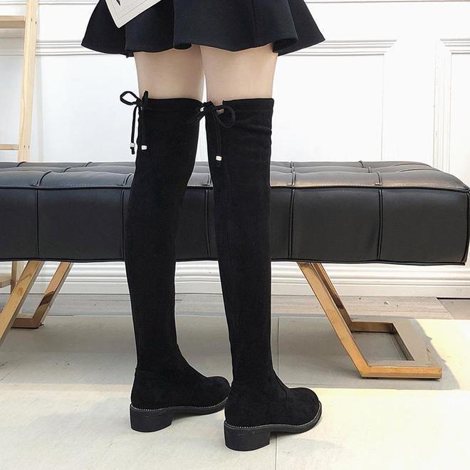 不到1米6的女人,穿這些過膝靴,修腿保暖賊顯高,美得無可挑剔
