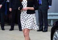凱特王妃太愛波點,穿墨綠色波點裙氣質優雅又高級,溫柔到骨子裡