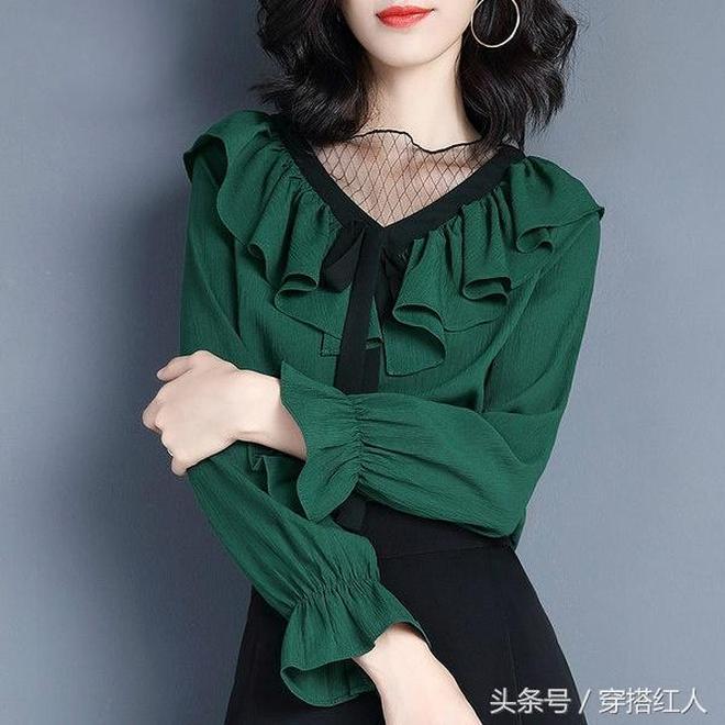 秋天的天氣不冷不熱,穿這幾款超仙雪紡衫,既舒適還提氣質顯年輕