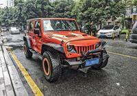 街拍改裝版jeep牧馬人,來看看你能否駕馭這樣的一臺猛獸!