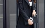 2017秋冬新款女裝韓版修身顯瘦毛呢外套中長款時尚氣質呢子大衣潮