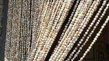 昌邑看到的這種門簾,原來這珠子都是野生的,秋天採來串起就行!