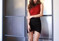 頭條女神孫允珠—深紅色無袖圓領緊身衫