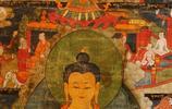 清代唐卡中的釋迦牟尼佛,慈悲莊嚴,廣宣佛法,見者增福好運來!