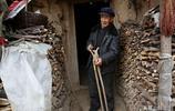 秦嶺深山裡的留守老人 備足劈柴好過冬