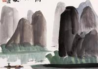 還是灕江山水美,他畫的灕江也是醉啦!