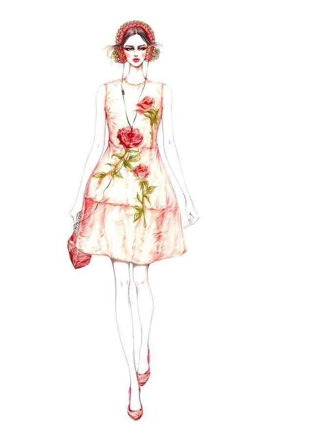 精美服裝設計手繪欣賞