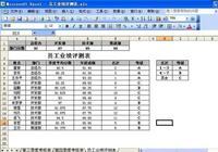 用excel製作11種表格之9. 員工業績評測表10.員工個人薪資明細表11.員工檔案管理系統表