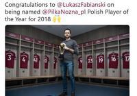 打破萊萬壟斷,法比安斯基獲2018波蘭足球先生
