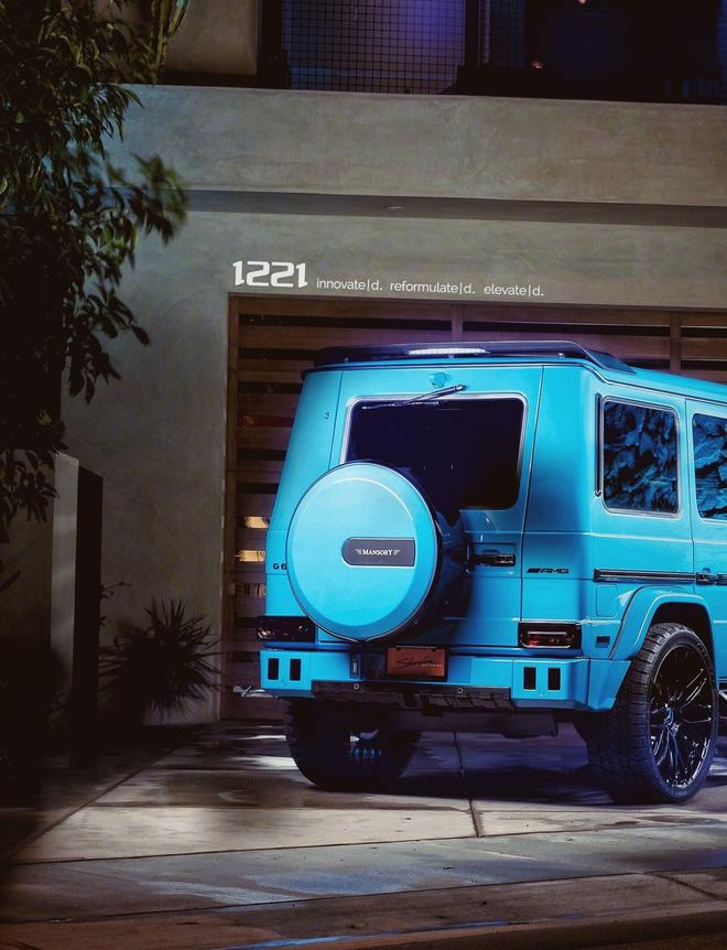 藍色改裝奔馳AMG G63,大G它是每個男人的夢中情人
