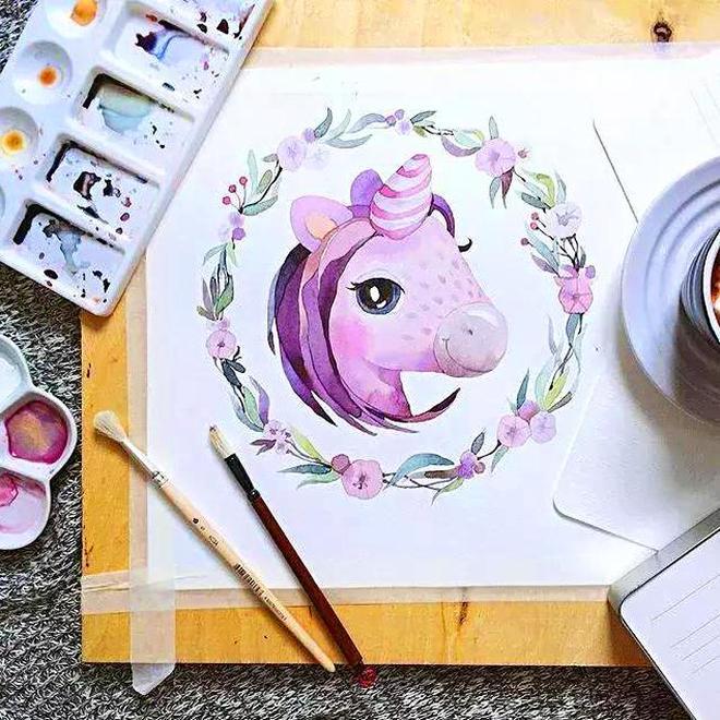 帶娃和畫畫兩不誤,俄羅斯寶媽的手繪萌物們太可愛了