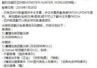 Capcom確認只有亞洲版《怪物獵人 世界》支持中文
