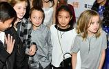 安吉麗娜·朱莉帶隊孩子們亮相多倫多電影節,孩子太多紅毯站不下