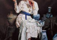 女紅 潘鴻海女紅油畫作品