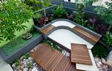 庭院設計:防腐木也可以做這麼美的造型,庭院裡用流水做水景好美