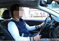 梅河口交警對駕駛員開車不繫安全帶、吸菸、打手機的行為予以處罰