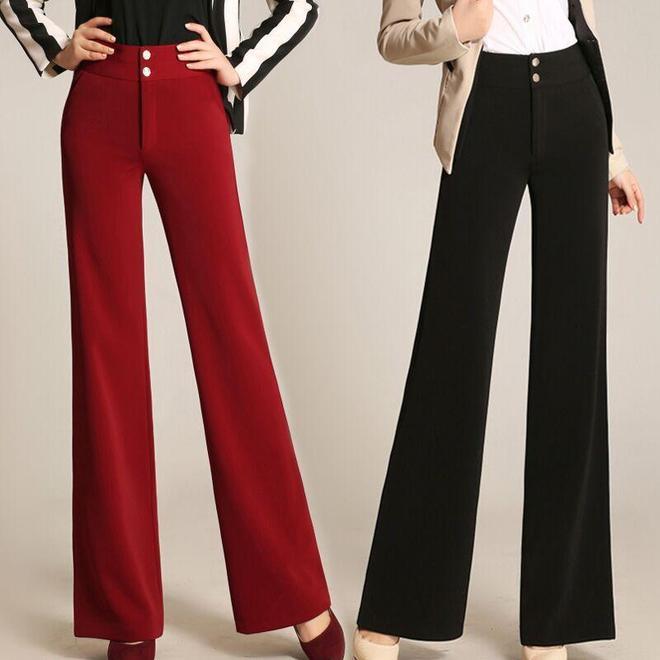 褲子最重要的是版型,高腰闊腳褲垂感十足,矮個子也能穿出大長腿