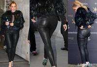 卡戴珊懷孕後穿皮褲出鏡,人們聚焦點在哪裡,你懂的!