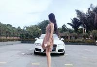別人家的女神當車模  奧迪A7車模