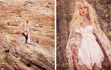 猶他州Amangiri的峽谷沙漠拍攝, 飄逸的夏日時裝