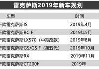 雷克薩斯2019年推出10款新車 6款進入國內