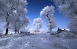 冬天的美景吉林霧凇