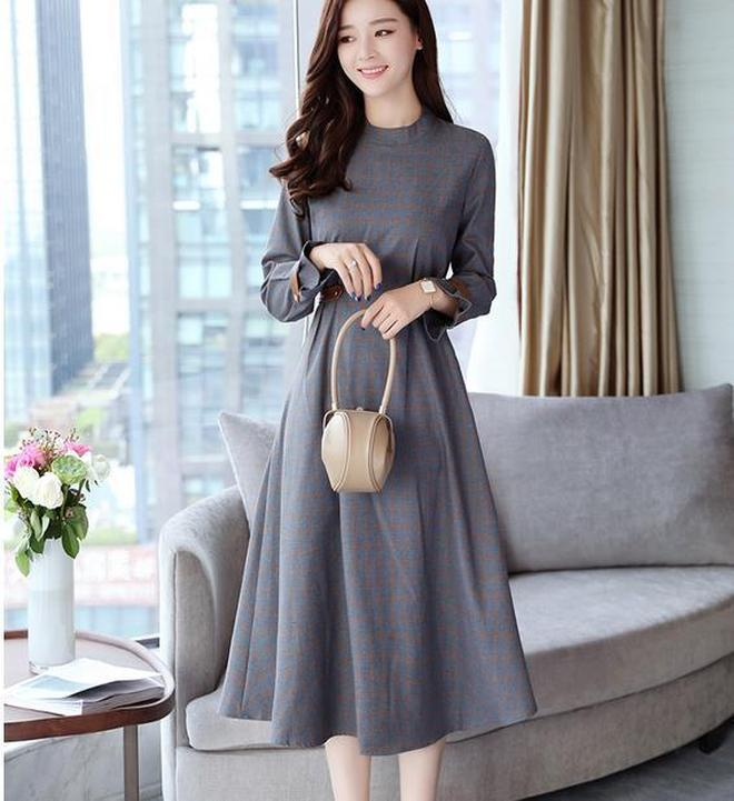 套裝裙時尚小香風高腰連衣裙2017秋季新款時髦a字裙子兩件套