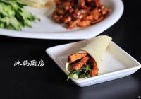 京醬肉絲捲餅的做法