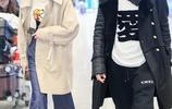 戚薇李承鉉現身機場,兩人固然都是顏值黨,但這裝扮也太花哨了吧