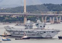 英國航母高調試水 剛嘲笑完俄航母是破船 自己航母就趴窩了
