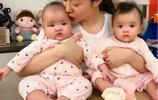 熊黛林一家四口生活照,雙胞胎女兒很可愛