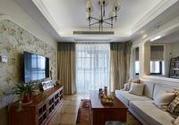 舊房改造 89㎡美式風格裝修,裝飾客廳背景的陽光房