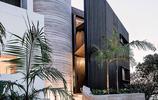 別墅設計:有戶外旋轉樓梯的拐角別墅,別墅也可以設計的這麼有趣