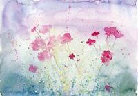 水彩畫,手繪花,畫非花,花非畫