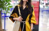 氣質女神——韓雪,時裝週黃黑色系,衣服,真亮