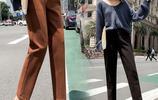 """毛呢蘿蔔褲+""""光腿神器"""",小姐姐們都這樣穿,保暖顯瘦有氣質"""
