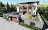 3層新中式小院別墅,大氣好看還易施工,效果圖+平面圖
