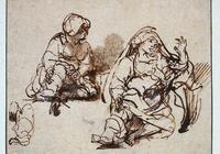 荷蘭繪畫大師倫勃朗素描作品欣賞!