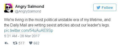英媒炒作梅姨的大長腿 全英人民怒了