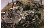 真實戰場模型還原,豹式坦克在德國最後一場戰鬥