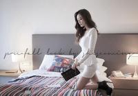 頭條女神孫允珠—純白色連身小禮裙