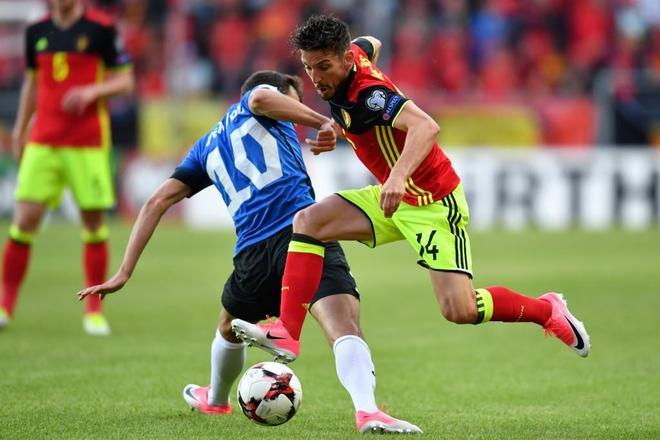 足球——世預賽:比利時勝愛沙尼亞