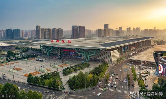 成都東站:外觀大氣,換乘方便,動線設計科學