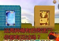 迷你世界:除地心之門外最稀有的2種傳送門,老玩家也從未見過!