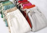 """4月又出一女褲,叫""""棉麻褲"""",670女人穿,舒適減齡,太迷人"""