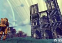 """玩家在遊戲《無人深空》中搭建""""太空版""""巴黎聖母院,向大教堂致敬,你怎麼看?"""